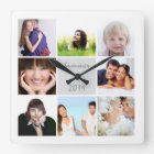 Instagram Wall Clock Family or Couple's Photos