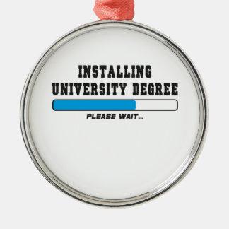 installing degree metal ornament