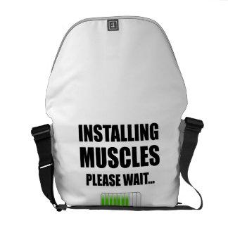 Installing Muscles Please Wait Commuter Bag