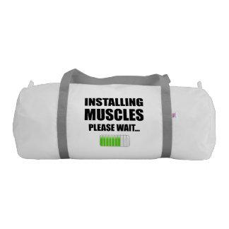 Installing Muscles Please Wait Gym Bag