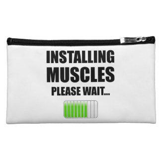 Installing Muscles Please Wait Makeup Bag