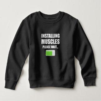Installing Muscles Please Wait Sweatshirt
