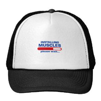 Installing Muscles Please Wait Trucker Hat
