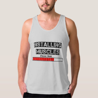 INSTALLING MUSCLES TANK TOP