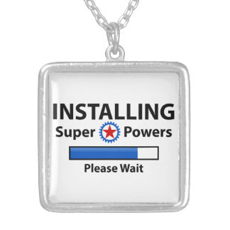 INSTALLING Super Powers Silver Plated Necklace
