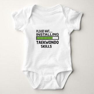Installing Taekwondo Skills Baby Bodysuit