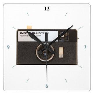 Instamatic Camera Square Wall Clock