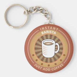 Instant Barista Basic Round Button Keychain