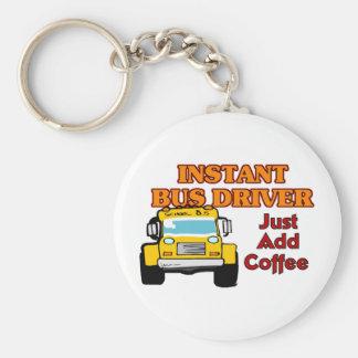 Instant Bus Driver Basic Round Button Keychain