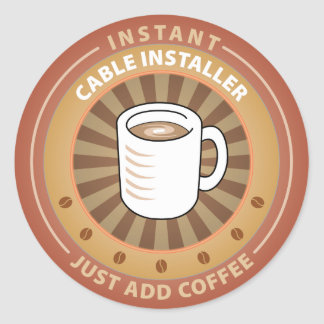 Instant Cable Installer Classic Round Sticker