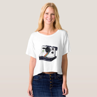 Instant Camera Cropped Tee