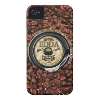 INSTANT EDDA ADD COFFEE iPhone 4 COVERS