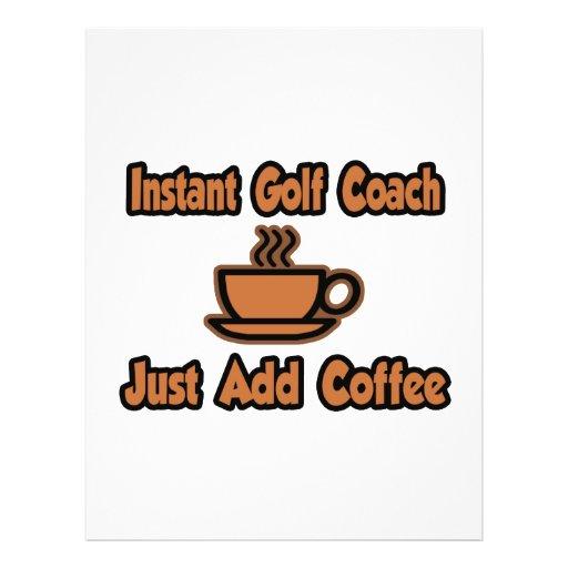 Instant Golf Coach...Just Add Coffee Flyer Design