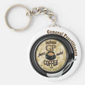 INSTANT GP ADD COFFEE GENERAL PRACTITIONER DOCTOR BASIC ROUND BUTTON KEYCHAIN