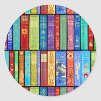 Instant Library ~ Story Time ~Light and Bright Classic Round Sticker