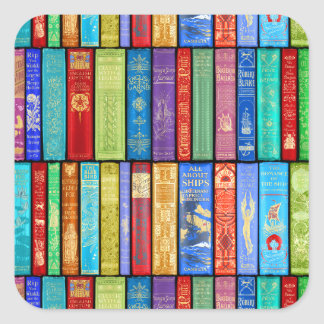 Instant Library ~ Story Time ~Light and Bright Square Sticker