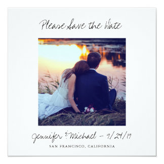 Instant Photo Look Wedding Save the Date Card