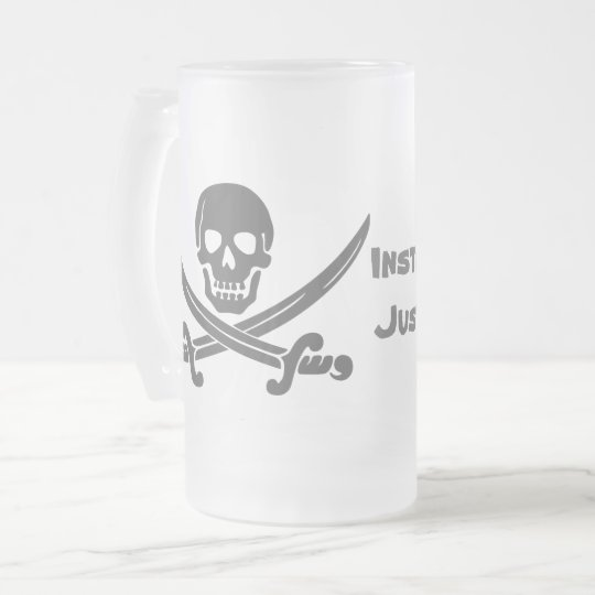 Instant Pirate - Just Add Rum Frosted Glass Beer Mug