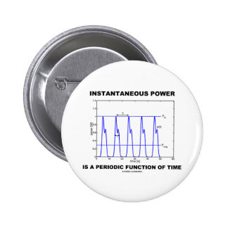 Instantaneous Power Is A Periodic Function Of Time 2 Inch Round Button