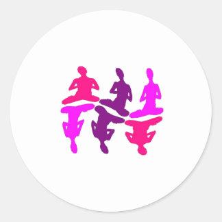 Instinctive Behavior Round Sticker