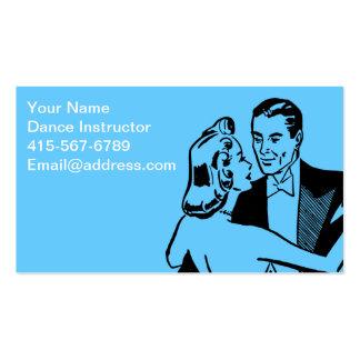 Instructeur de danse carte de visite