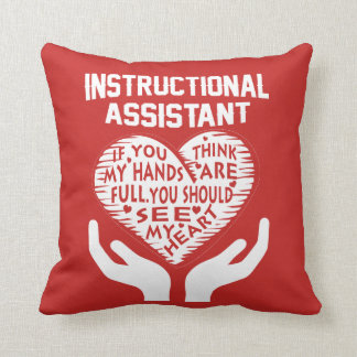 Instructional Assistant Throw Pillow