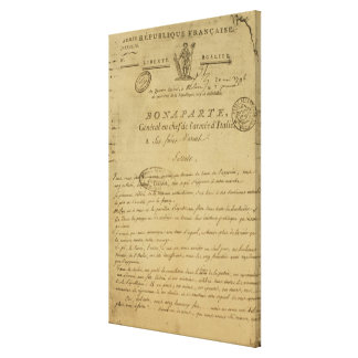 Instructions to soldiers issued by Napoleon Canvas Print