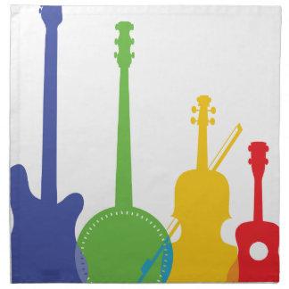 Instruments Color Printed Napkins