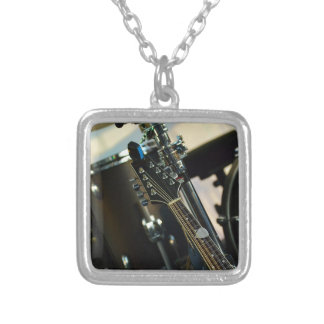 Instruments Music Drums Guitar Musical Instrument Silver Plated Necklace