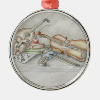 Instruments music Silver-Colored round ornament