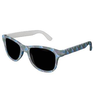 Insubordinate Blue Green Purple Fractal Sunglasses