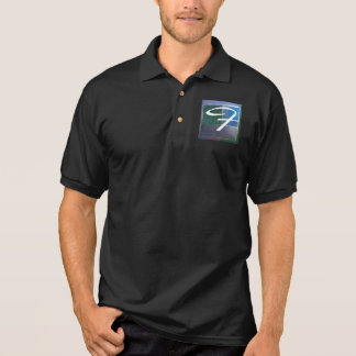 Insubordinate Fractal Blue Green Purple Polo Shirt