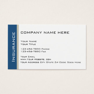 Insufance Rep Businesscards Business Card