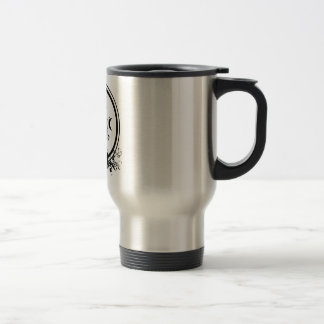 Insulated stainless mug with yoga logo
