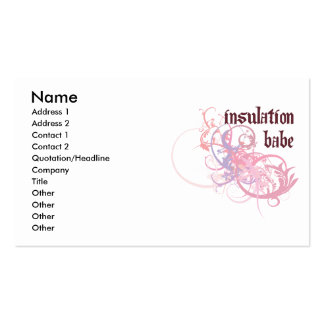 Insulation Babe Business Card Templates