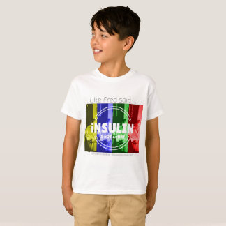 Insulin is not a cure - rainbow T-Shirt