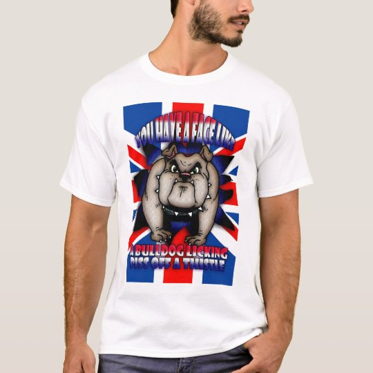 Insulting T Shirt, with bull dog, union Jack, Fun T-Shirt
