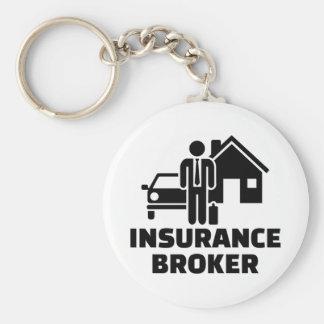 Insurance broker basic round button keychain