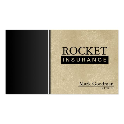 Insurance Broker Business Card - Sophisticated : Zazzle