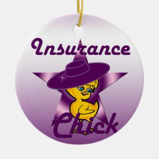 Insurance Chick #9 Ceramic Ornament