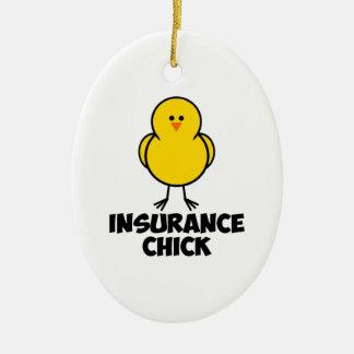 Insurance Chick Ceramic Ornament
