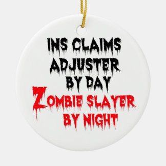 Insurance Claims Adjuster Zombie Slayer Ceramic Ornament