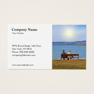 Insurance Senior Couple Business Card