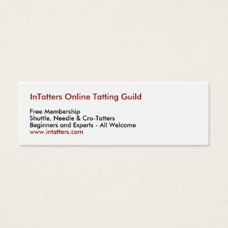 InTatters Online Tatting Guild, Free Membership... Mini Business Card