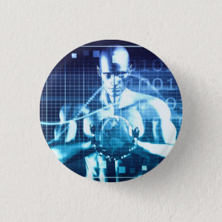 Integrated Technologies on a Global Level Concept 1 Inch Round Button