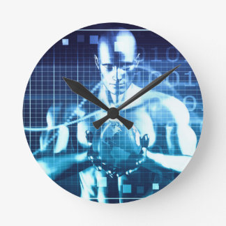 Integrated Technologies on a Global Level Concept Round Clock