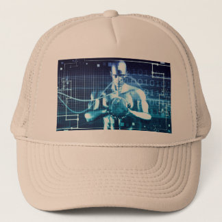 Integrated Technologies on a Global Level Concept Trucker Hat