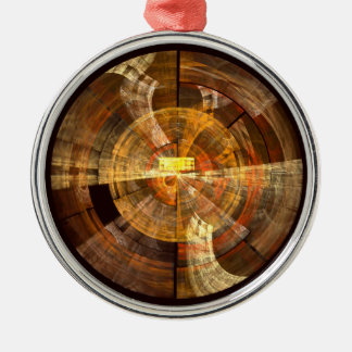 Integrity Abstract Art Round Silver-Colored Round Ornament