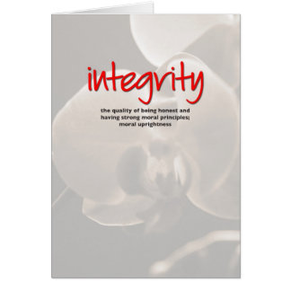 Integrity Definition Inspiration Card