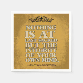 Integrity of your own Mind Paper Napkin